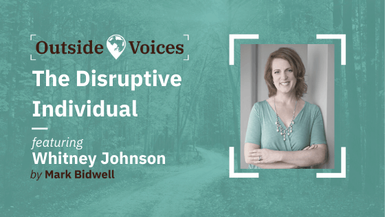 Whitney Johnson - The Disruptive Individual, Riding S Curves and Liberating Constraints - OutsideVoices Podcast
